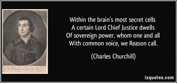 Within the brains most secret cells a certain lord chief justice dwells of soveregin p