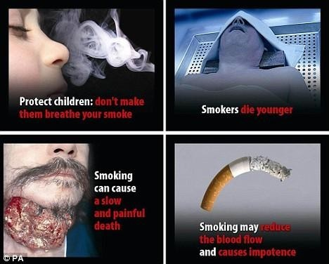 Protect children dont make them breathe your smoke smokers die younger smoking can cause a slow and