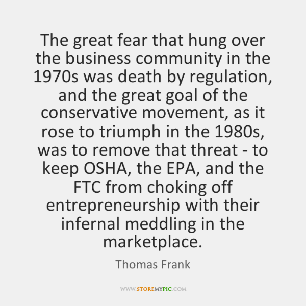 The great fear that hung over the business community in the 1970s ...