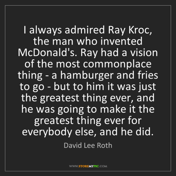 ray kroc accomplishments