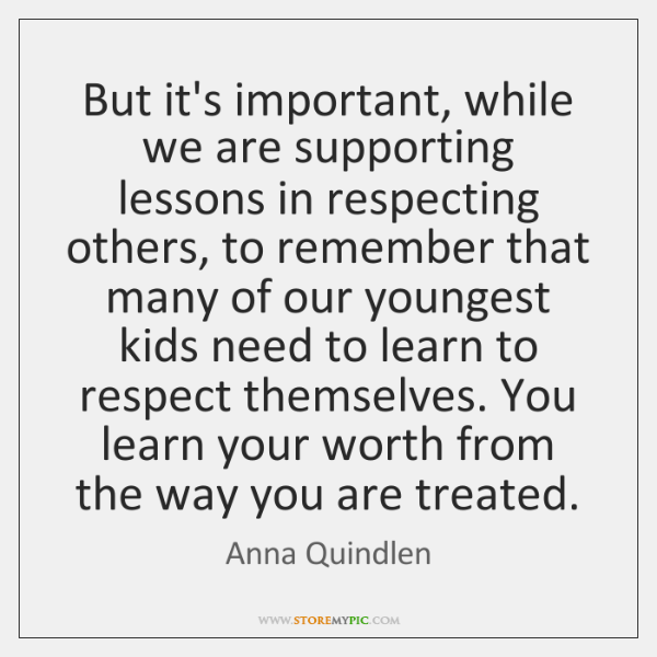 respecting others property