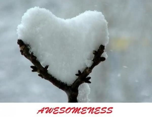 Awesomeness snow heart