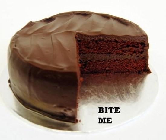 Bite me chocolate cake