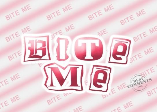 Bite me pink