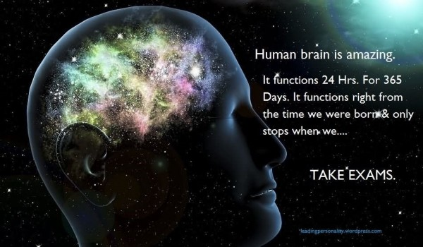 Human brain is amazing it functions 24 hrs for 365 days it functions right
