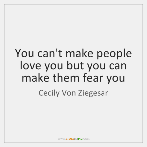 what makes people fear