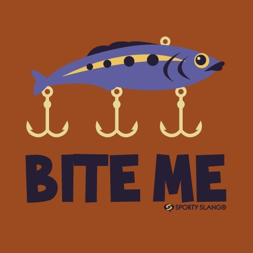 Fish with anchors bite me