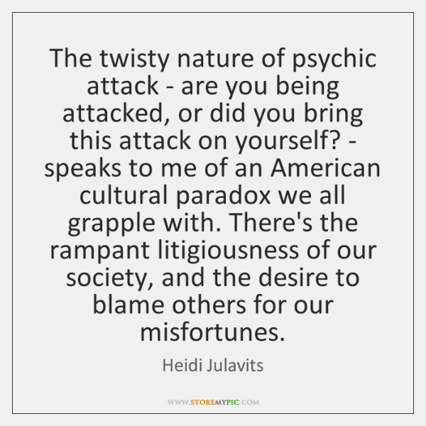 The twisty nature of psychic attack - are you being attacked, or ...
