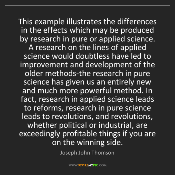 Joseph John Thomson: This example illustrates the differences in the effects...