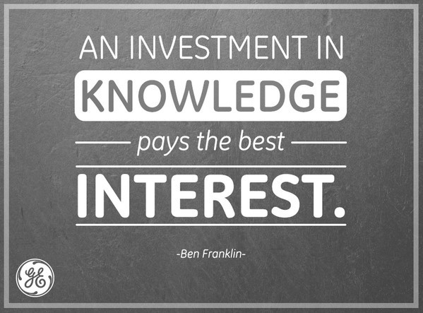An invesment in knowledge pays the best interest ben franklin