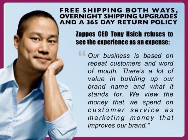 Free shipping both ways overnight shipping upgrades and a 365 days return policy