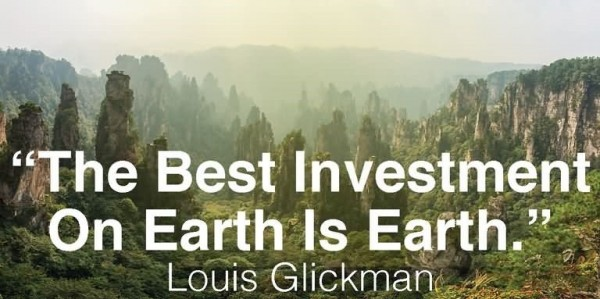 The best investment on earth is earth louis glickman 001