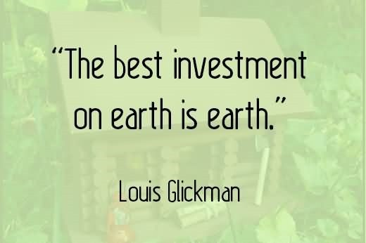 The best investment on earth is earth louis glickman 002