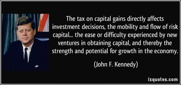The tac on capital gains directly affects investment decision the mobility and flow