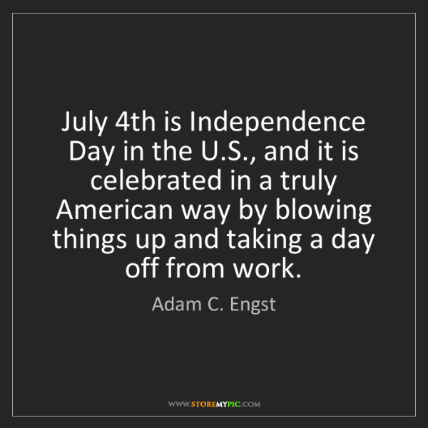 Adam C. Engst: July 4th is Independence Day in the U.S., and it is celebrated...