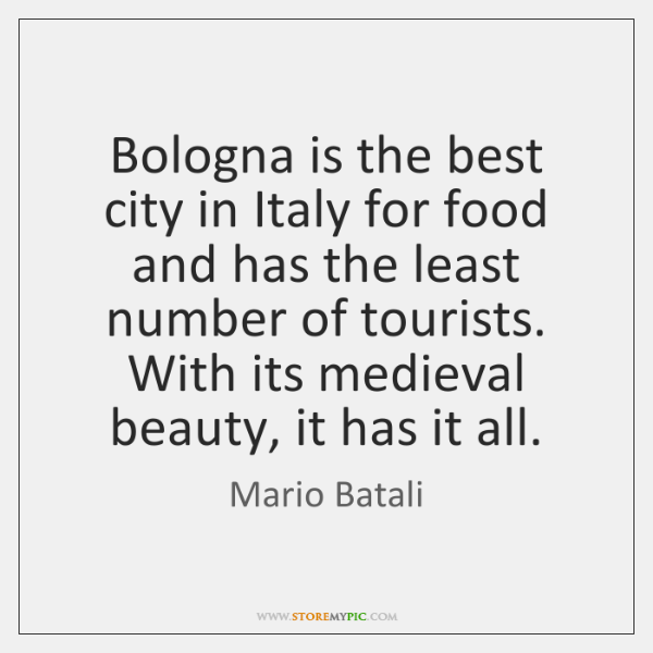 Bologna is the best city in Italy for food and has the ...
