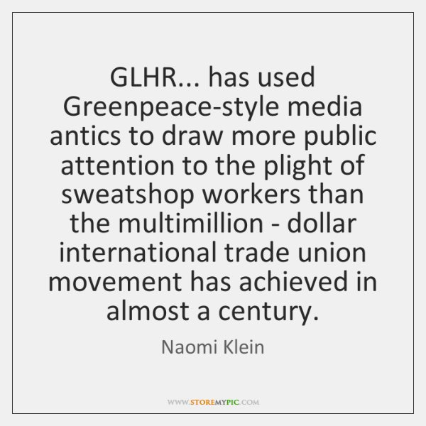 GLHR... has used Greenpeace-style media antics to draw more public attention to ...