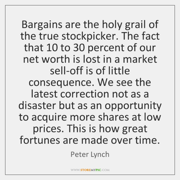 Bargains are the holy grail of the true stockpicker. The fact that 10 ...