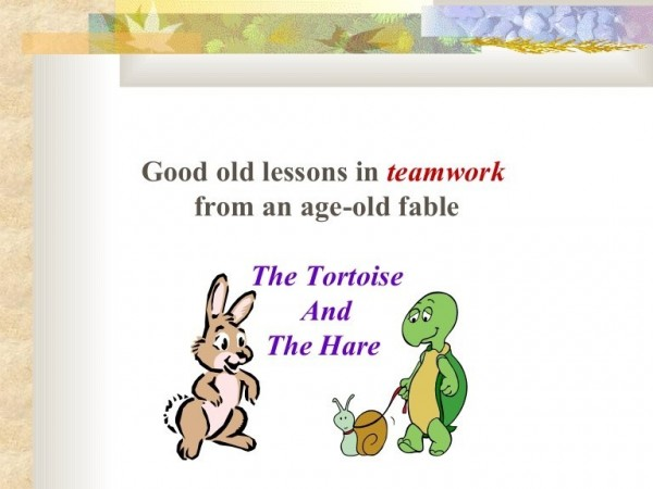 Good old lessons in teamwork from an age old fable