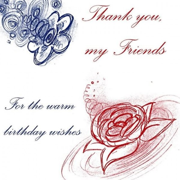 Thank you my friends for the warm birthday wishes