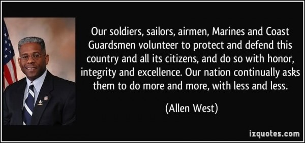 Our soldiers sailors airmen marines and coast guardsmen volunteer to protect and def