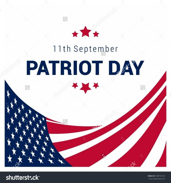 11th september patriot day american flag vector