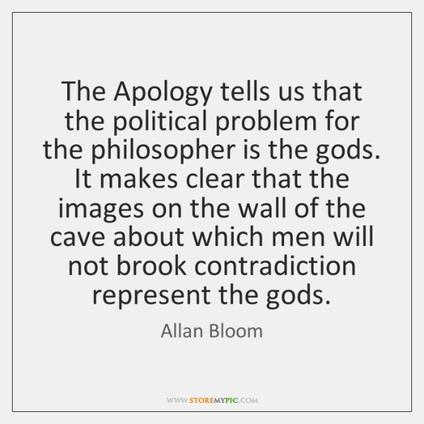 The Apology tells us that the political problem for the philosopher is ...