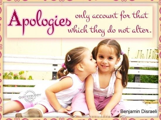 Apologies only account for that which they do not alter