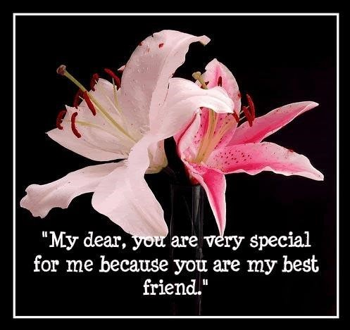 My Dear You Are Very Special For Me Because You Are My Best Friend