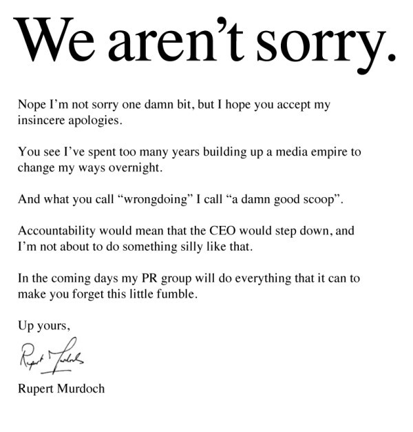 We arent sorry