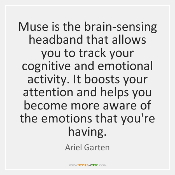 Muse is the brain-sensing headband that allows you to track your cognitive ...