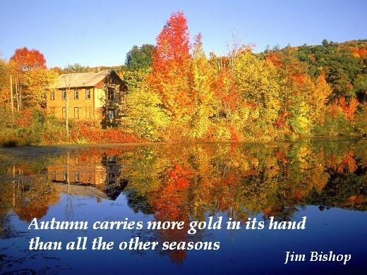 Autumn carries more gold in its hand than all the other seasons
