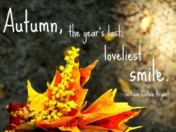 Autumn the years last loveliest smile image