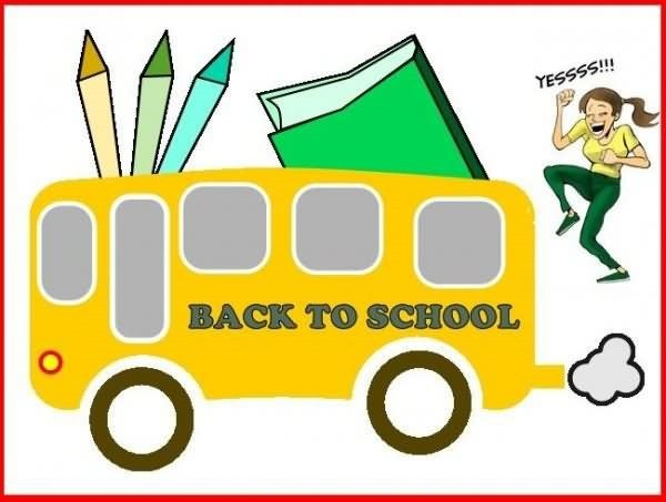 Back to school animated bus