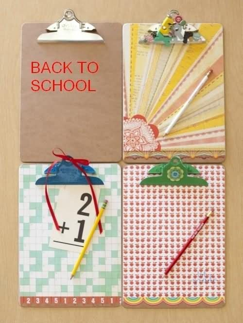 Back to school cardboard