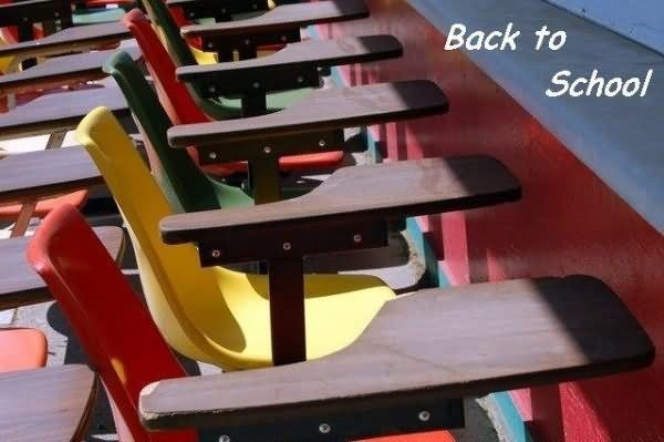 Back to school empty benches