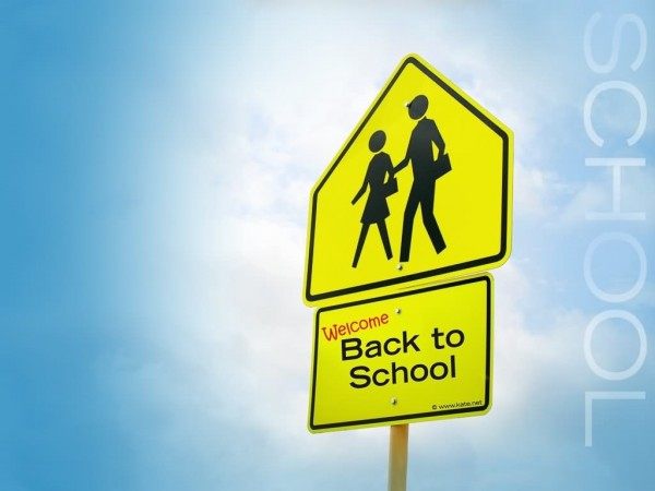Back to school sign board