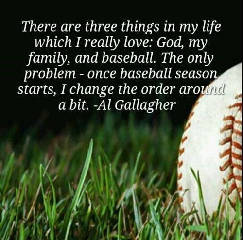 There are three things in my life which i really love god my family and baseball the