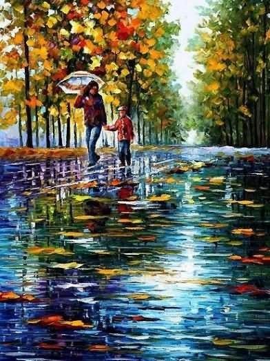 Beautiful autumn season painting
