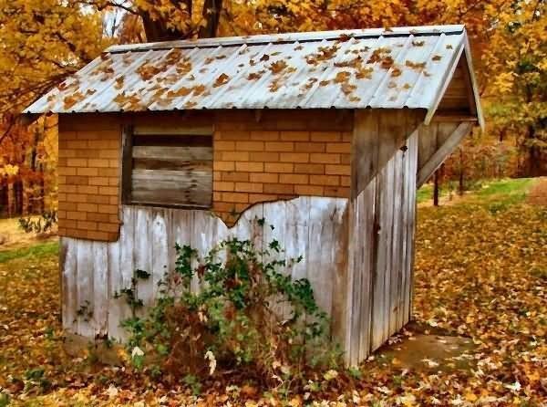 Beautiful hut autumn season