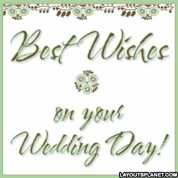 Best wishes on your wedding day animated