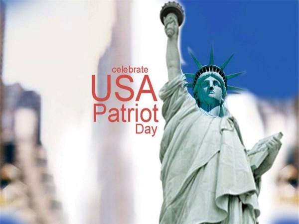 Celebrate usa patriot day statue of liberty photo