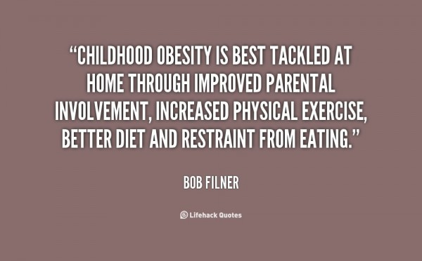Childhood obesity is best tackled at home through improved preantal involment