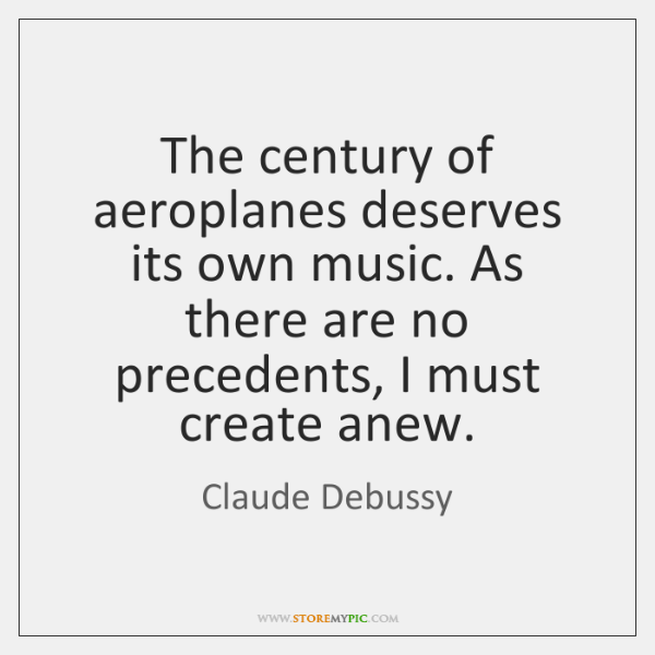 The century of aeroplanes deserves its own music. As there are no ...
