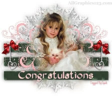 Congratulations beautiful girl