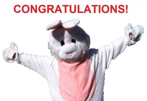 Congratulations rabbit