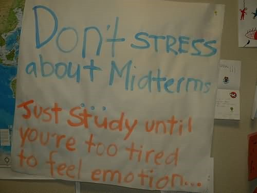 Dont stress about midterm
