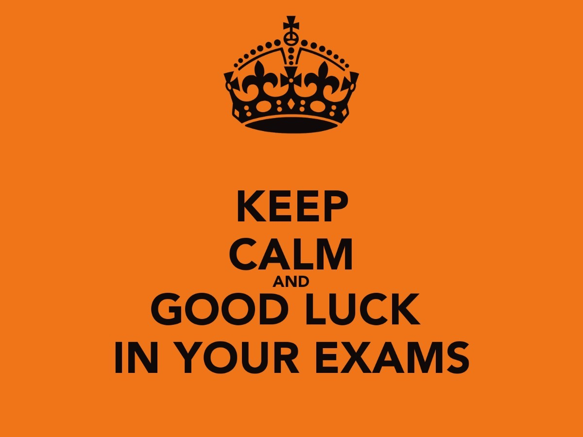 Keep Calm And Good Luck In Your Exams Storemypic