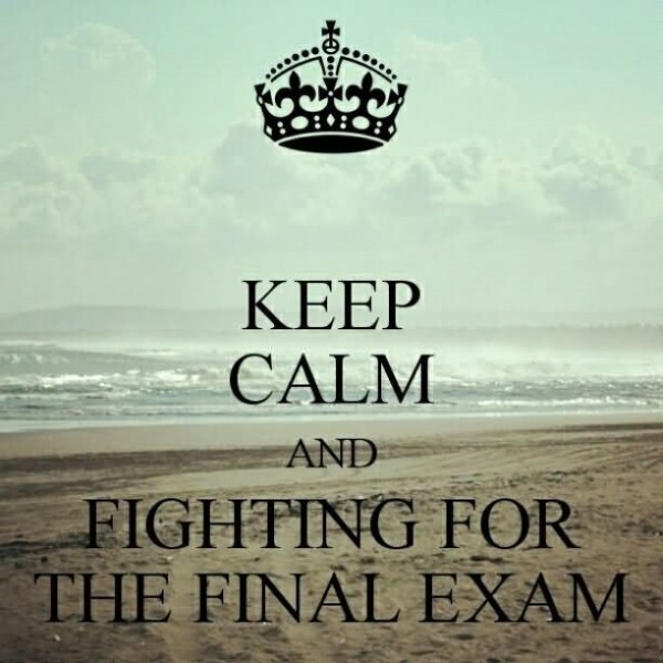 Keep calm and highting for the final exam