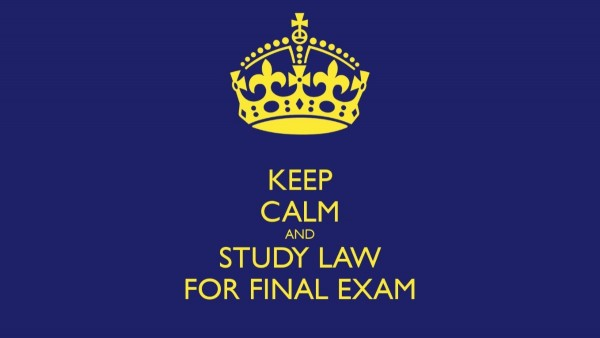 Keep calm and study law for final exam